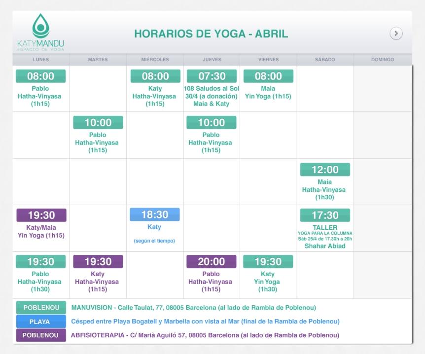 clases de yoga - yin, hatha, vinyasa Poblenou