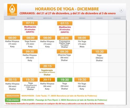 clases y cursos de yoga en Poblenou, Barcelona