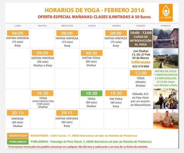 Clases de Yoga Barcelona, Poblenou