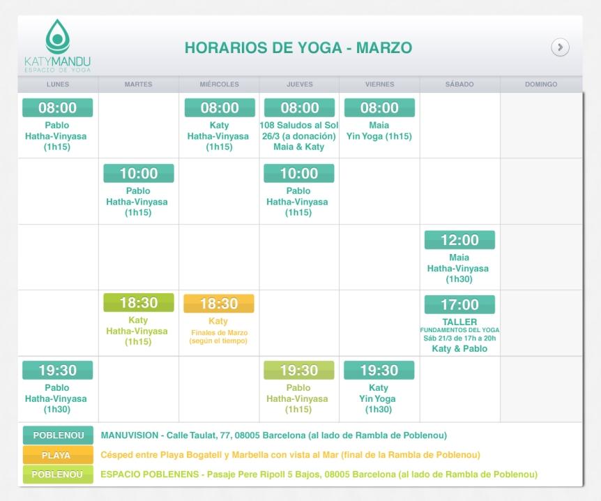 clases de yoga en Poblenou