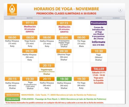 Clases y Cursos de Yoga en Poblenou