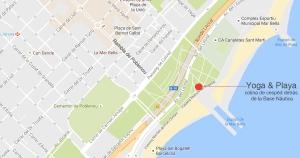 Mapa Yoga y Playa