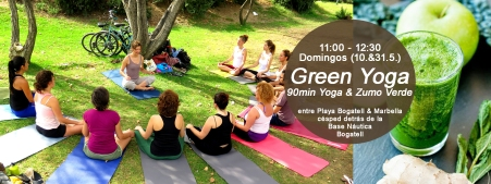 Green Yoga al aire libre con zumito verde